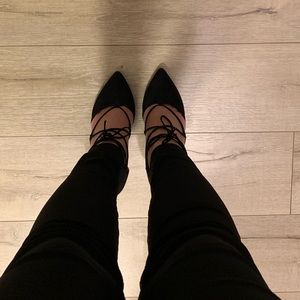 Jessica Simpson Black Pointed Heels